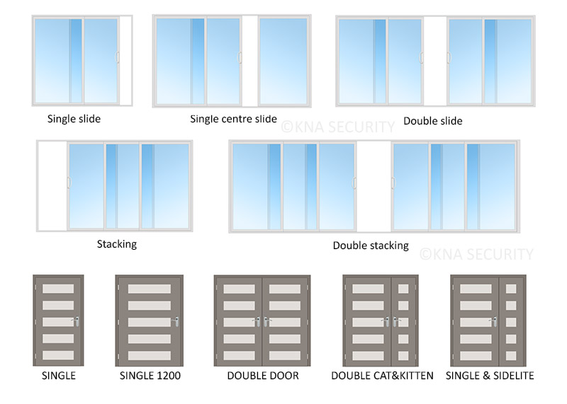 Security door configurations