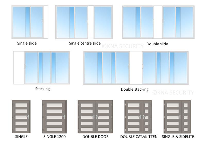 Security door configurations