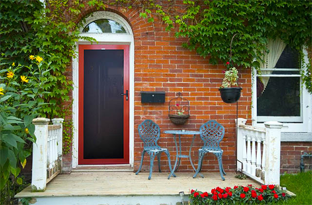 Security door prices Perth single door in red, includes triple locking, closer and bug strip.